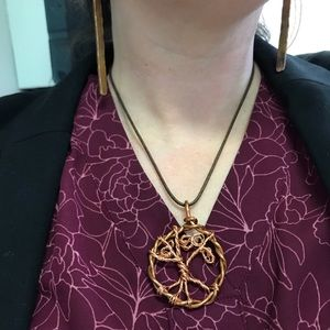 Handmade necklace tree of life necklace NWT COPPER